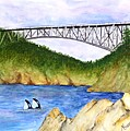 Deception Pass Bridge  by Mary Gaines