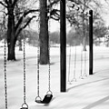 Deep Snow & Empty Swings After The Blizzard by Trina Dopp Photography