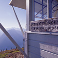 Desolation Peak Fire Lookout Cabin Sign by David Pluth