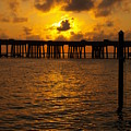 Destin Harbor Sunset 1 by James Granberry