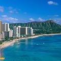 Diamond Head And Waikiki by William Waterfall - Printscapes