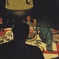 Dinner By Lamplight by Felix Edouard Vallotton
