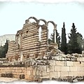 Do-00306 Old Ruins In Anjar by Digital Oil