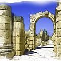 Do-00407 Roman Portico In Tyr by Digital Oil