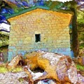 Do-00435 Building Surrounded By Cedars by Digital Oil
