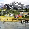 Docked At Haines Alaska by Larry Hamilton
