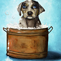 Dog N Suds by Leah Saulnier The Painting Maniac