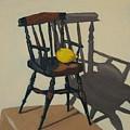 Doll's Chair With Lemon by Phillip Schwartz