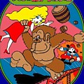 Donkey Kong Arcade Game Art by Paul Van Scott