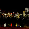 Downtown Calgary At Night by Mark Duffy