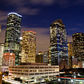 Downtown Houston At Night by Olivier Steiner