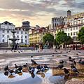 Downtown Lisbon by Carlos Caetano