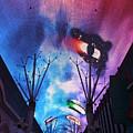Downtown Vegas Night by John W Smith III