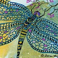 Dragonfly And Cherry Blossoms by Susan Kubes