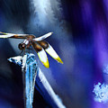 Dragonfly In The Blue by Lisa Redfern