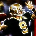 Drew Brees New Orleans Saints by Paul Van Scott