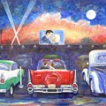 Drive-in Movie Theater by Linda Mears