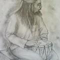 Drum Player by Jaiteg Singh