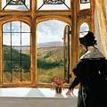 Duchess Of Abercorn Looking Out Of A Window by Sir Edwin Landseer