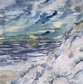 Dunes 2 Seascape Painting Poster Print by Derek Mccrea
