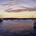 Dusk At Stonington Harbor by Bruce Dumas