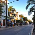 Duval Street In Key West by Susanne Van Hulst