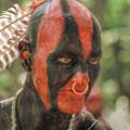 Eastern Woodland Indian Portrait by Randy Steele