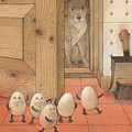 Eggs And Dog by Kestutis Kasparavicius