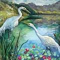 Egrets by Fran Kelly