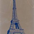 Eiffel Tower Blue by Naxart Studio