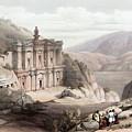 El Deir Petra 1839 by Munir Alawi