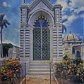 Elaborate Mausoleum  Colon Cemetery Havana Cuba Espada Cemetery by David Zanzinger