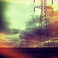 Electricity Pylons by Mardis Coers