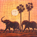 Elephants In Dry Heat by Peter Chikwondi