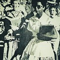Elizabeth Eckford Making Her Way To Little Rock High School 1958 by Lauren Luna