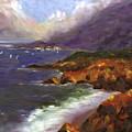 Emerald Surf by Linda Hiller