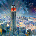 Empire State Building In 4th Of July by Ylli Haruni