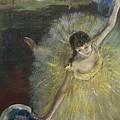 End Of An Arabesque by Edgar Degas