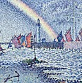 Entrance To The Port Of Honfleur by Paul Signac