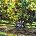 Eoin Miraim And Cian In Botanic Gardens by John  Nolan