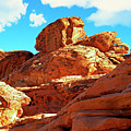 Eroded Red Sandstone by Frank Wilson