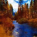 Evening Hatch On The Metolius Painting by Diane E Berry