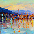 Evening Reflections In Piermont Dock by Ylli Haruni