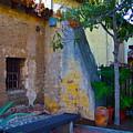 Exterior Wall Of Serra Chapel Mission San Juan Capistrano California by Karon Melillo DeVega