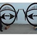 Eyeglass Bike Rack by Steve Mudge