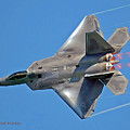 Fa 22 Raptor From Air Show by DigiArt Diaries by Vicky B Fuller