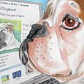 Facebook Dog by Michelle Hayden-Marsan