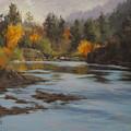 Fall At Colliding Rivers by Karen Ilari
