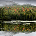 Fall Reflections In The Adirondack Mountains by Brendan Reals