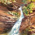 Falls At Hocking Hills by Lois Mountz